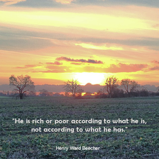 He is poor rich according what he is not what he has